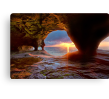 Sea Cave on Lake Superior Canvas Print