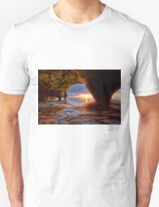 Sea Cave on Lake Superior Unisex T-Shirt