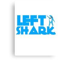 Retro Left Shark  - Super Bowl Halftime Shark 2015 Canvas Print