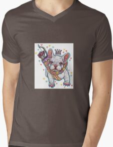 Frenchie Fever Mens V-Neck T-Shirt