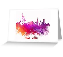 Skyline New York City pink red Greeting Card