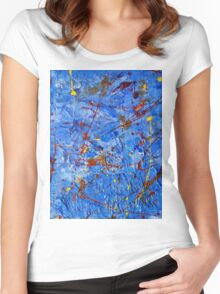 Rusty Blue-Available As Art Prints-Mugs,Cases,Duvets,T Shirts,Stickers,etc Women's Fitted Scoop T-Shirt