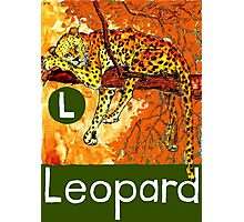 L is for Leopard Photographic Print