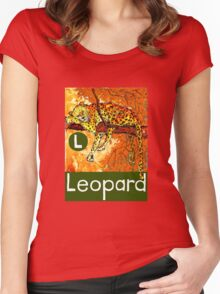 L is for Leopard Women's Fitted Scoop T-Shirt