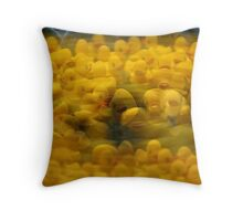 The Duck Version of the Rat Race Throw Pillow