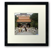Buddhist Fragrance Hall, Summer Palace Framed Print