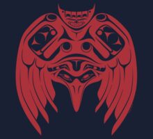 Pacific Northwest Style Red Raven by stmorris
