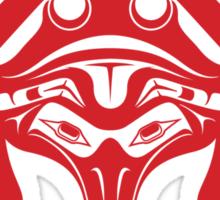 Pacific Northwest Style Red Raven Sticker