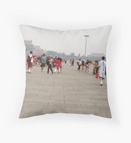 Tiananmen Square in Beijing Throw Pillow