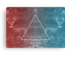 Deer Reflection Canvas Print