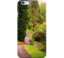 Pleasant Path. Benmore Botanical Garden. Scotland iPhone Case/Skin