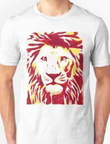 Lovely Lion Stencil (Warm) T-Shirt