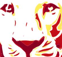 Lovely Lion Stencil (Warm) Sticker