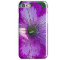 Pretty pink petunia garden flower. Digital art sketch style. For home, office, business decoration. iPhone Case/Skin