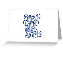 Soft Kitty Warm Kitty - blue Greeting Card