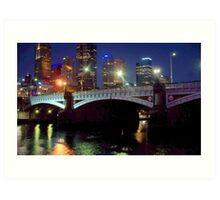 Princes Bridge Melbourne Art Print