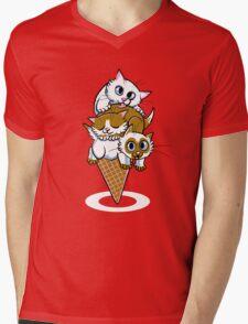 Kitten Cone Mens V-Neck T-Shirt