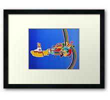 beatles: yellow submarine Framed Print