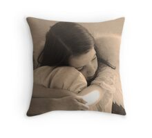 Resting Angel Throw Pillow