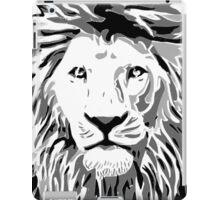 Lovely Lion Stencil (Greyscale) iPad Case/Skin