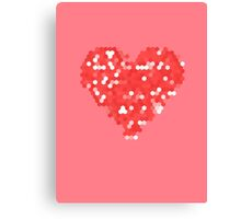 Pixel Love Canvas Print