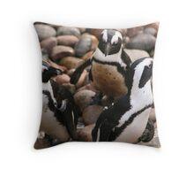 Penguin Pals Throw Pillow