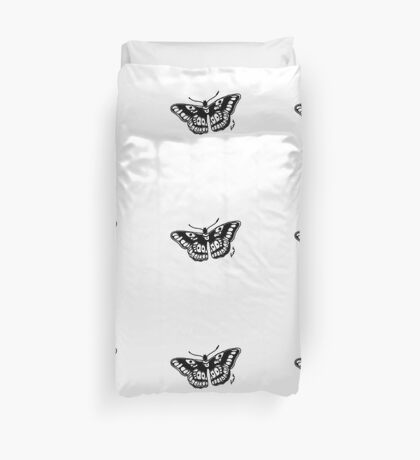 Butterfly Tattoo Duvet Cover