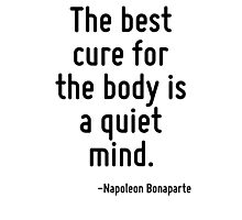 The best cure for the body is a quiet mind. Photographic Print