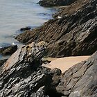 Cornish beach rocks by emmag1984