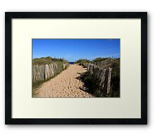 Chestnut Fence To The Beach Framed Print