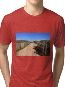 Chestnut Fence To The Beach Tri-blend T-Shirt