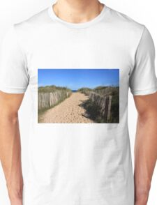 Chestnut Fence To The Beach Unisex T-Shirt