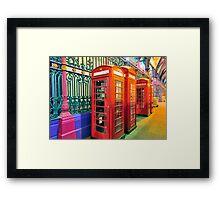Telephone Boxes Framed Print