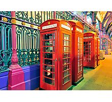 Telephone Boxes Photographic Print