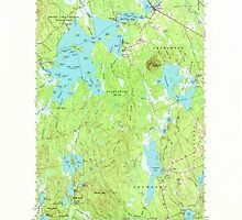 Maine USGS Historical Map Big Lake 460205 1963 62500 by wetdryvac