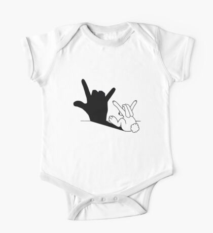 Rabbit Love Hand Shadow One Piece - Short Sleeve