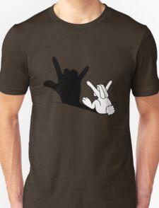 Rabbit Love Hand Shadow Unisex T-Shirt