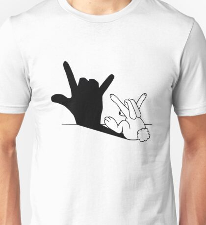 Rabbit Love Hand Shadow Unisex T-Shirt