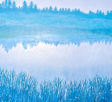 On Blue Pond by Lynne Kells (earthangel)