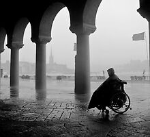 Waiting For The Rain To Stop B&W Version by Mikael Raymond