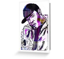 Funky DL (Purple) Greeting Card