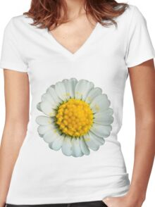 Big daisy  Women's Fitted V-Neck T-Shirt