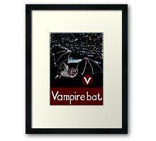 V is for Vampire bat Framed Print
