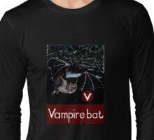 V is for Vampire bat Long Sleeve T-Shirt
