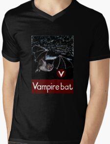 V is for Vampire bat Mens V-Neck T-Shirt