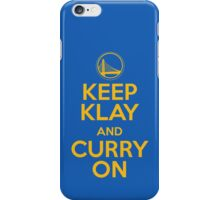 Keep Klay and Curry On iPhone Case/Skin