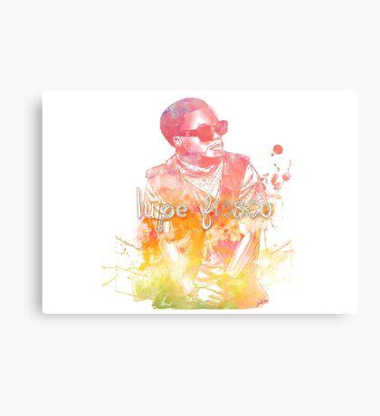 Lupe Fiasco Gradient Splash Canvas Print