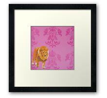 Wallpaper Lion Pink Framed Print