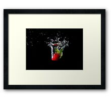 Strawberry Drop Framed Print