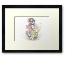 Lupe Fiasco Grey Splash Framed Print